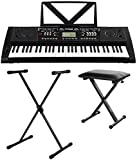 FunKey 61 Deluxe Keyboard noir SET incl. support de clavier ...