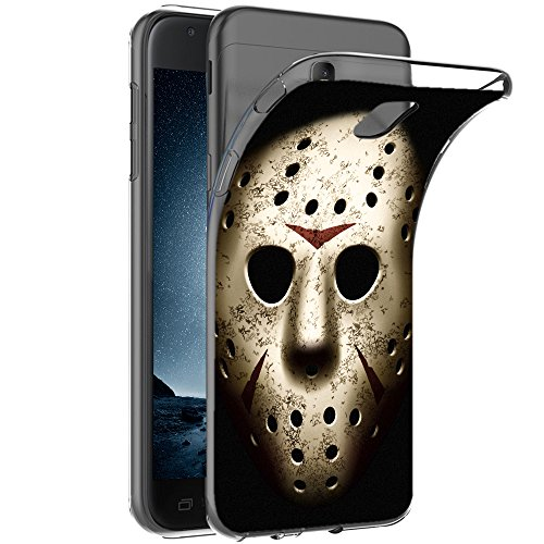 Original OOH!COLOR® Silikon Hülle für Samsung Galaxy J7 2016 J710 | Ultra-slim Tasche mit Motiv FHO005 Horror Freitag etelastische Cover dünn Bumper Horror Halloween Movie Film Maske Design Case slim Etui
