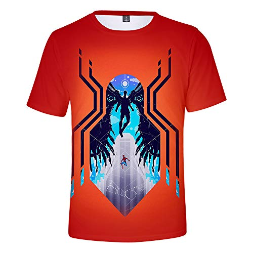 Expedition S/s Shirt (WQWQ Herren Kreatives Kurzarmhemd Spiderman Heroes Expedition T-Shirt mit Rundhalsausschnitt Fitness Schnelltrocknender Schweiß XXL 3XL,A,S)