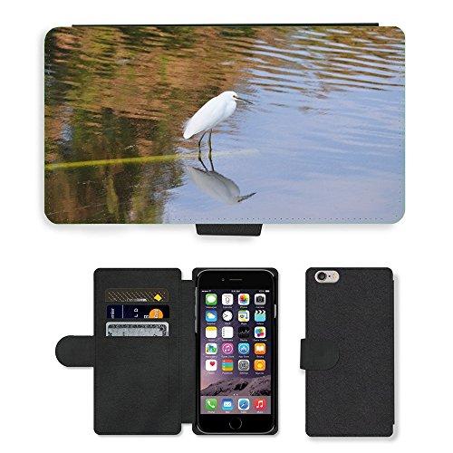 Just Mobile pour Hot Style Téléphone portable étui portefeuille en cuir PU avec fente pour carte//m00139929Oiseaux Nature Wildlife l'eau//Apple iPhone 6Plus 14cm