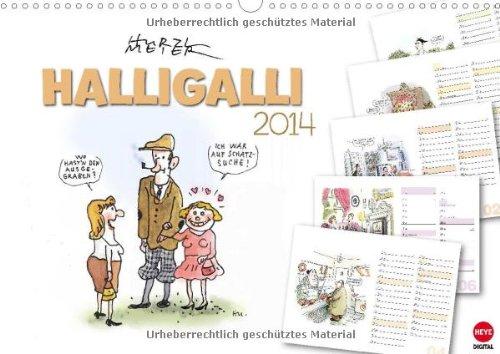HALLIGALLI - der fröhliche Planungskalender (Wandkalender 2014 DIN A3 quer): Ausgelassene Cartoons...