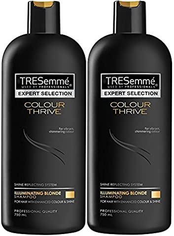 2x TRESemme Colour Thrive Illuminating Blonde Shampoo,