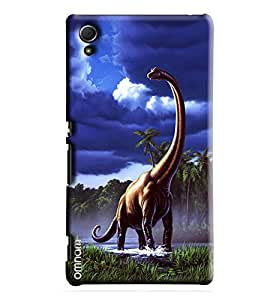 Omnam Dinasours Printed Designer Back Cover Case For Sony Xperia Z4