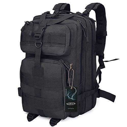 G4FREE 40L Tactical Rucksack army military MOLLE Rucksack für Outdoor Wandern Camping Reisen Schwarz