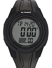 amazon co uk all blacks watches all blacks 680278 watch men quartz digital black dial black plastic strap
