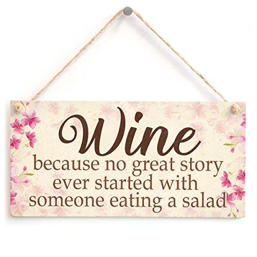 Wein Da keine Great Story Ever Schritte mit Someone Essen Salat–Funny Freundschaft Geschenke