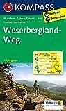 KOMPASS Wanderkarte Weserbergland-Weg: Wanderkarte mit Radtouren. GPS-genau. 1:50000: Wandelkaart 1:50 000 (KOMPASS-Wanderkarten, Band 819)