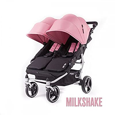 Baby Monsters- Silla Gemelar Easy Twin 3.0.S (Silver) - Color Rosa Milkshake + REGALO de un bolso de polipiel (capota normal) Danielstore