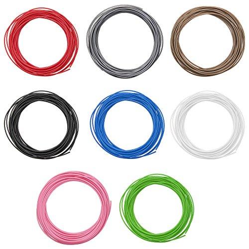 MASUNN 10M Un Pack DE 1,75 Mm Pla Filament pour Stylo D'Impression 3D Muti-Couleur Choisie - Bleu