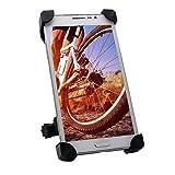 Supporto Bici Smartphone TONSHEN Universale Bike Phone Mount Holder Bici Moto Bicicletta Manubrio Fissazione Porta Cellulare per GPS e Dispositivi Elettronici, Regolabile 360 Gradi, Quattro Artigli, Gomma Manica