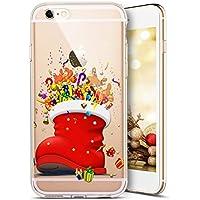 iPhone 7 Hülle,iPhone 8 Hülle,SainCat Weihnachten Weihnachtsmann Muster Silikon Hülle TPU Schutz Handy Hülle Transparent... preisvergleich bei billige-tabletten.eu