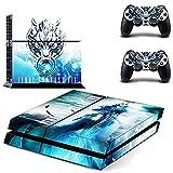 hibote Vinyl Aufkleber Skin Blenden Aufkleber Set für Sony PlayStation 4PS4Konsole und 2Controller - Final Fantasy VII