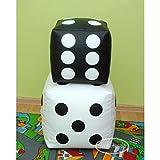 Egato Set di 2 cubo/Dado Puff puf Pouf pouff Poltrona Sacco in Ecopelle,...