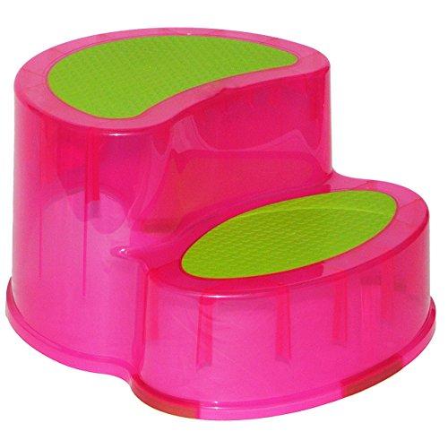 Trittschemel / Tritthocker / Kindersitz - groß - ROSA PINK - Kinderschemel & Kindertritt - ideal als Erhöhung & Sitz - Kinderhocker - auch für Toilettentrainer - für Kinder Mädchen