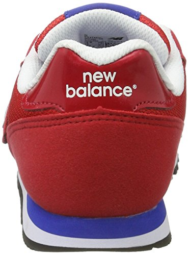 New Balance 373, Baskets Basses Mixte Enfant Rosso (Red Navy)
