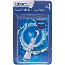 nevadent® cabezales de recambio para cepillo de dientes dazk 8 B1, color blanco