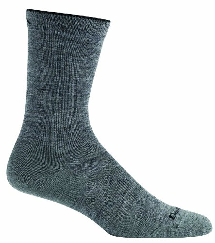 Darn Tough Vermont Damen Solid Crew Light, damen, zinnfarben (Hiking Sock Crew Coolmax)