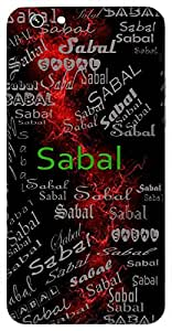 Sabal (Full Of Strength) Name & Sign Printed All over customize & Personalized!! Protective back cover for your Smart Phone : Micromax Canvas Sliver 5 Q450