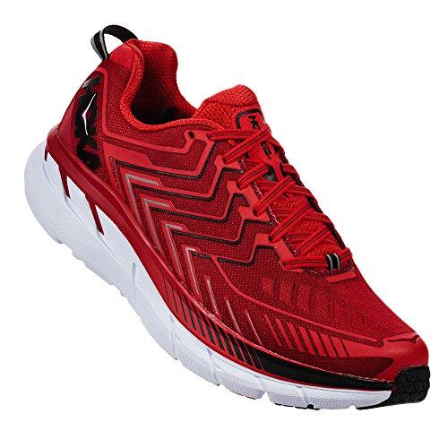 Hoka Clifton 4 Haute Red / High Red - Scarpa Running Uomo - 41 1-3 -