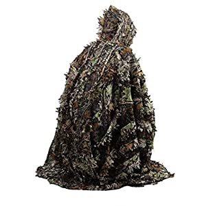 Tree-on-Life Lifelike 3D laisse camouflage cape de poncho costumes furtifs en plein air Woodland CS jeu vêtements pour la chasse de tir