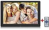 Digitaler Bilderrahmen,SEQI 10.1 Zoll 1280x800 ochauflösendes Full-IPS-Display Foto/Musik/Video-Player Kalender Wecker automatischer EIN/aus Timer, unterstützt USB-und SD-Karte, Fernbedienung