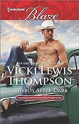 Cowboy After Dark (Thunder Mountain Brotherhood) by Vicki Lewis Thompson (2016-06-21)