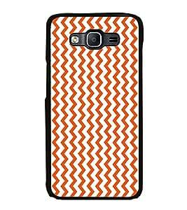 PrintVisa Coral Chevron High Gloss Designer Back Case Cover for Samsung Galaxy On5 (2015) :: Samsung Galaxy On 5 G500Fy (2015)