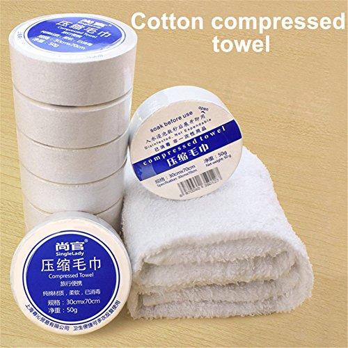 komprimierte asciugamano per campeggio Pop Up Viaggio 50PILLS Monouso asciugamano Salviette Rinfrescanti Asciugamano Bellezza pillole Mini Asciugamano Magic Towel