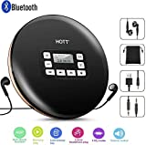 Tragbar CD-Player mit Bluetooth,persönlicher kompakter CD-Player mit Kopfhörern Tragbarer CD Player mit elektronischem Überspringschutz und Anti-Schock-Funktion Kleine Musik-Player