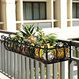 GYMhz Schmiedeeisen Geländer Haushalt Sukkulenten Blumenständer Wandhalterung Blumentopfhalterung (größe : 100 * 29 * 16cm)
