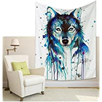 Wandbehang//Tier Wolf Drucken Startseite Tapisserie//Sofa Abdeckung//Bettw/äsche Tagesdecke//Picknick Strandtuch//Tischdecke//dekorative Wandbehang 150 130cm