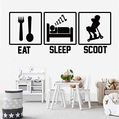 Eat Sleep Spiel Wandtattoo Spiel Aufkleber Wandtattoos Kinderzimmer Dekoration Spieler Wandkunst Aufkleber Wandaufkleber 58x24cm