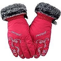 Unbekannt XIAOYAN Handschuhe Winterhandschuhe Ski Handschuhe Kid's Full-Finger-Handschuhe warm halten Winddicht Nylon Baumwolle Freizeit Sport Herbst/Herbst Winter Bequem
