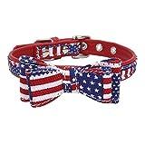 TFENG FENG Halsband für Hunde und Katzen, Classic Soft Weich Baumwolle Einstellbare Katzenhalsband Welpen Hunde Halsband (Rot,S)