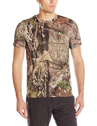Mossy Oak Camo T-shirt (Mossy Oak Herren Kurzarm-T-Shirt Poly Camo, Herren, Camouflage, Medium)