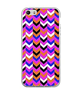 Printvisa Multicolour Zigzag Pattern Back Case Cover for Apple iPhone 5::Apple iPhone 5S