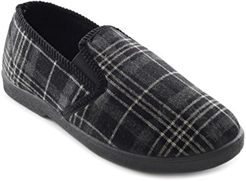 MENS ALL OVER CHECK INJECTION SLIPPER - Zapatillas de estar por casa para hombre -