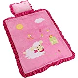 Baby Grow Double Layer Fleece Quilt Blanket With Pillow (PINK)