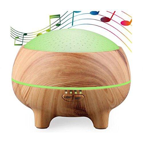 Aroma Diffuser 300ml Ultraschall Leise Luftbefeuchter BIGSELLER098 Timereinstellungen 7 Farben LED Duftlampen Bluetooth Lautsprecher für Zuhause Yoga Büro SPA Schlafzimmer