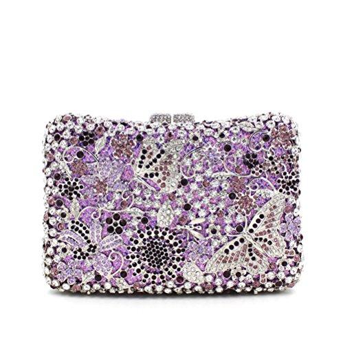 Damen Abend packt Diamant Strass Diamanten Diamanten Diamanten Diamanten Brautjungfer Handtaschen Bankett-Packs color 2