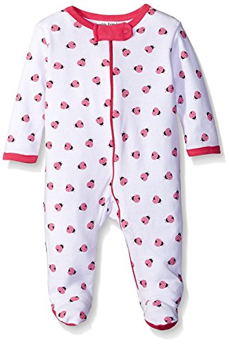 Luvable Friends Sleep and Play Onesie Babygrow Sleepsuit (6-9 Months, Pink Ladybug)