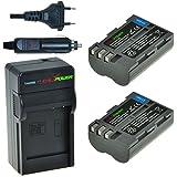 ChiliPower EN-EL3E Kit: 2x Akku + Ladegerät für Nikon D90, D700, D300, D80, D70, D50, D200, D300s, D100, D70s