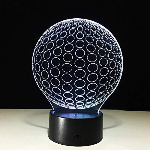Golf 3d led nachtlichter kreis ball acryl tischlampe wohnzimmer schlafzimmer exquisite geburtstagsgeschenk für kinder nachttischlampe schreibtischlampe illusion