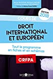 Cours de droit international et européen