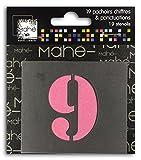 Mahé LE1919Schablonen Zahlen Kunststoff transparent 5x 5x 0,1cm