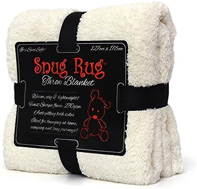 Gift House International GH-SRT1 Snug Rug Special Edition Luxury - Manta de lana, color beige