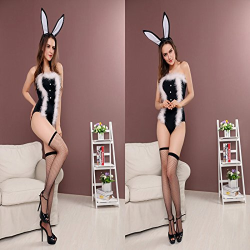DLucc Mode sexy behaarte Brust gewickelt bunny Bar RPG Uniformen