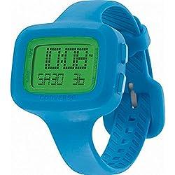 Converse Women's Blue Silicone Band Steel Case Quartz Grey Dial Digital Watch VR025-470