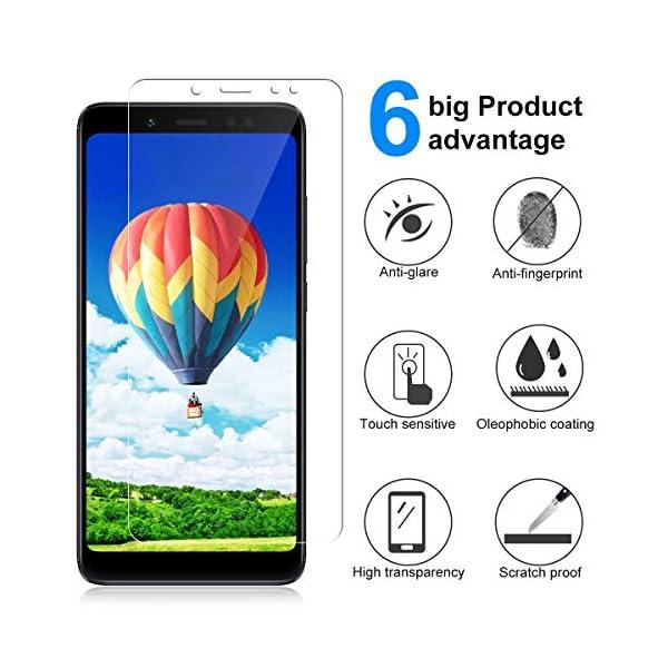 Ramcox Protector de Pantalla para Huawei Honor 8C, Alta Sensible Vidrio Templado Protector de Pantalla Compatible con 3D… 2