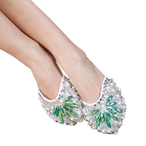 Wgwioo Frauen Bauch Ballett Tanz Schuhe Kostüm Geschenk Für Big Party Weihnachten Bohrer Praxis Einlegesohle . Green . L/38~39 (Weihnachten Elf Dance Kostüme)